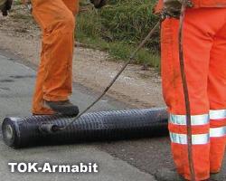 TOK-Armabit är avsedd för vägar med större sprickor än 5mm