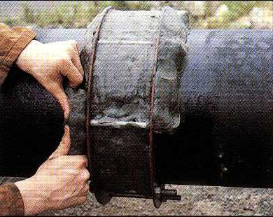 Densyl Mastic underlättar lindning av korrosionsskyddstaper